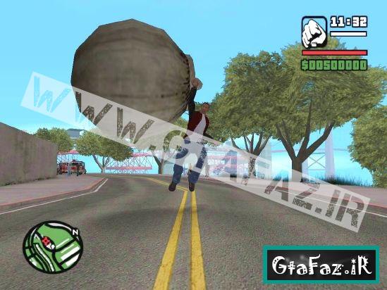 دانلود مود کلو پرتاب توپ آهنی به هر طرف برای (GTA 5 (San Andreas